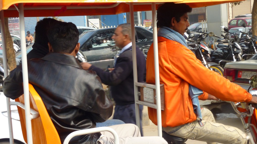 E-rickshaws in Dwarka- Jan 3, 2012 (2/2)