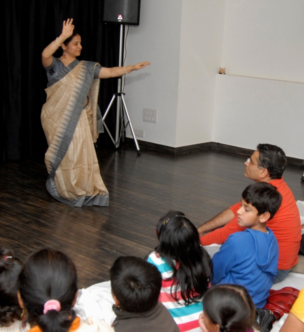 An impromptu demonstration by my guru Jayashree Acharya