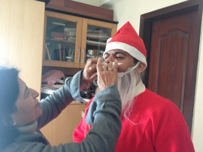 The making of Santa!