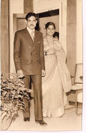 Daddy and Mummy on their wedding day; Feb 1973