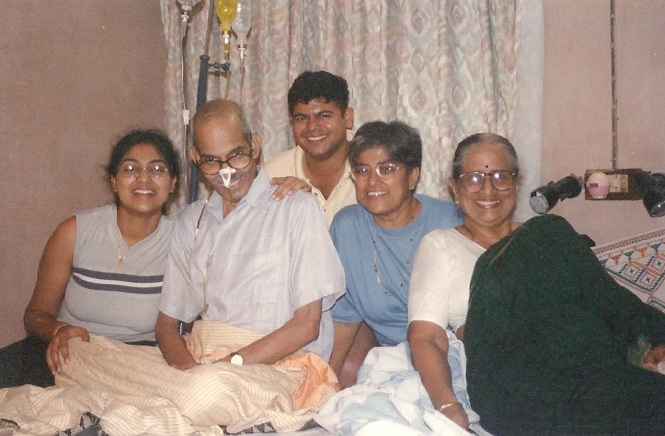 Shortly after we were married...you see here Me, dad, Rahul, Mummy and Amamma. How young we all look....it astonishes me to see how much time has gone by, it feels like yesterday...