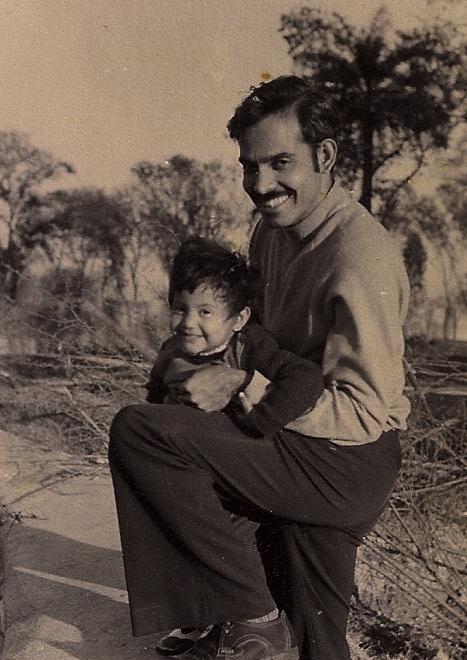 Fevicol ka jod! Dad and me; perhaps 1979?
