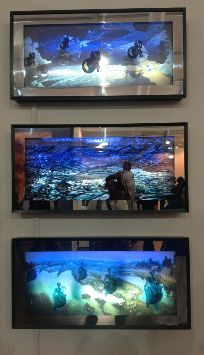 Sheba Chhachhi's Moving image Lightboxes highlighted the plight of the River Yamuna and made a mute appeal for help