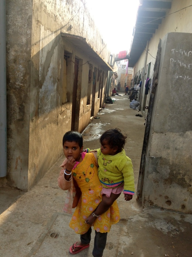 Plots in illegal colonies are the only affordable option. Many buy plos and set them up as tenement housing to rent out to migrant labor. This picture was taken in Devi Lal Colony in Central Gurgaon