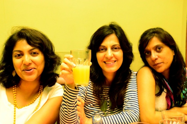 Color me yellow!! Me, Juhi, Rachna.. photo credit: Udai