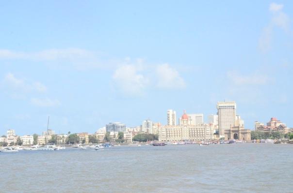 Mumbai skyline on a hot hot day