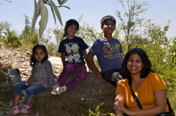 Me with the kids...posing...