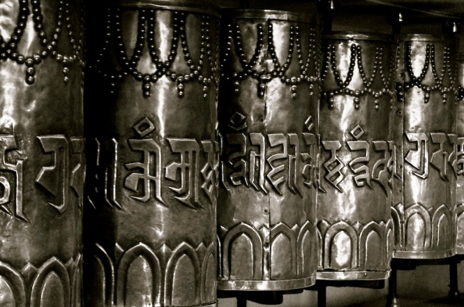 The prayer wheels, everywhere...