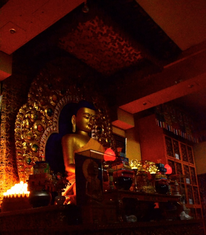 The sanctum inside the temple