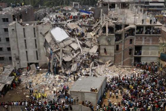 The Rana Plaza collapse was the worst industrial disaster in Bangladesh's history.: Photo courtesy of libcom.org