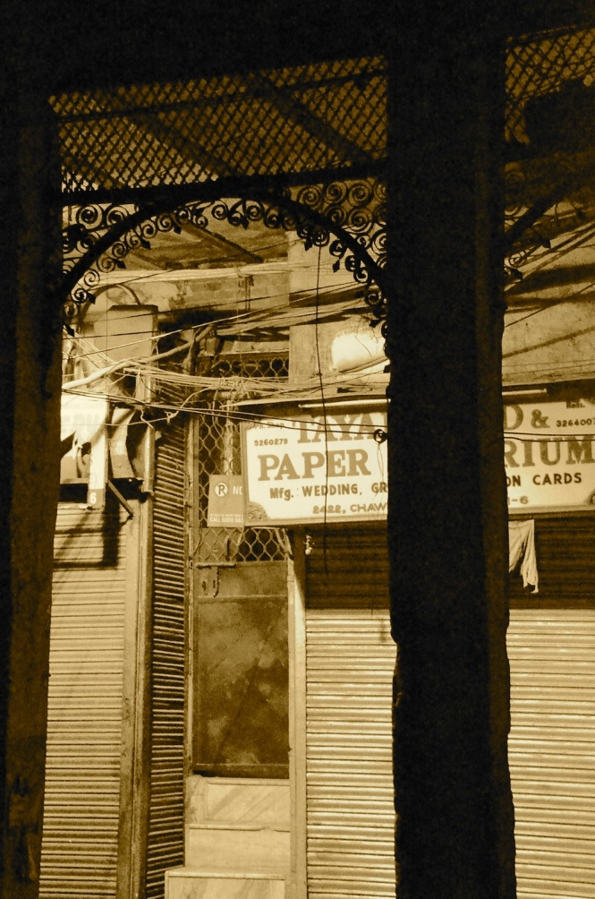 Chawri bazar, where once courtesans ruled, is today a hardware market and also a hub for paper and wedding cards!