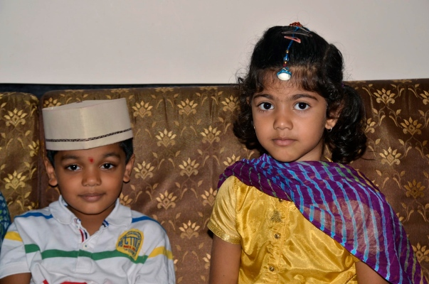 And these two together are cute too....Saurabh and Aadyaa