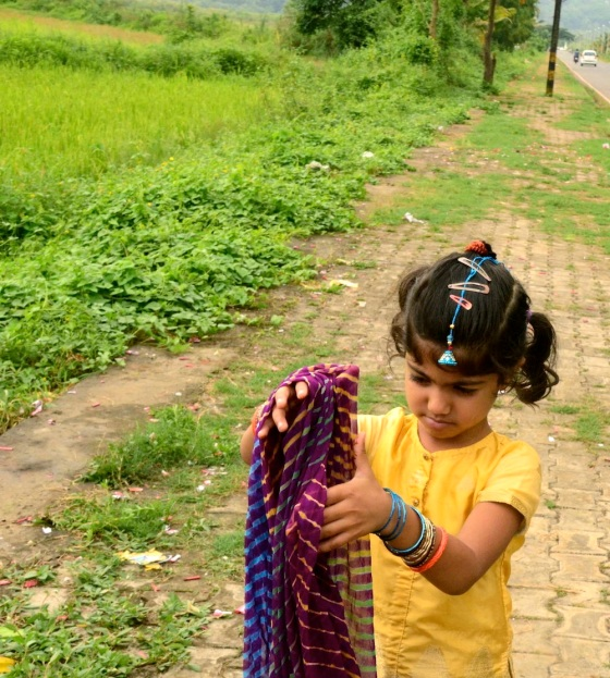 At some point, Aadyaa decides to adjust her dupatta...