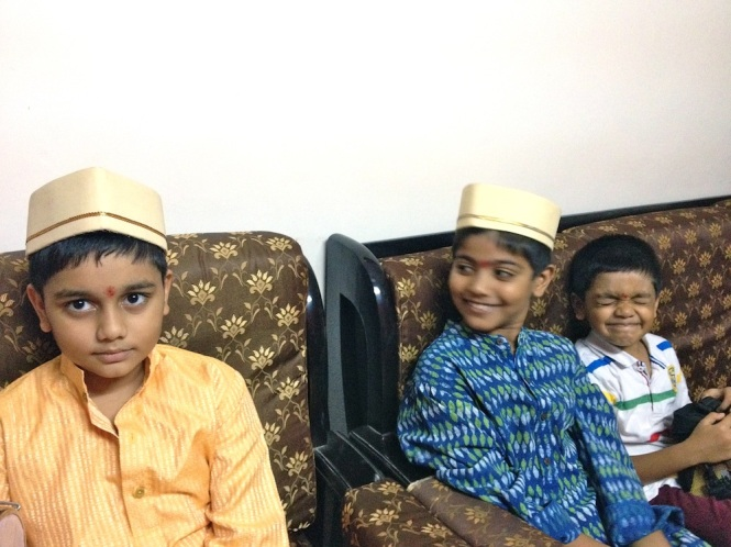 Kids chilling at home after the little excursion...how cute they are...Snehit, Udai and Saurabh