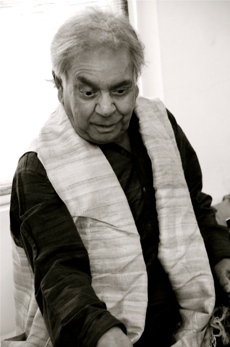So much to learn, so little time! So thankful for the opportunity...Pt. Birju Maharaj, showing us the nuances of kathak and how we can relate it to our lives. 14th Oct 2013