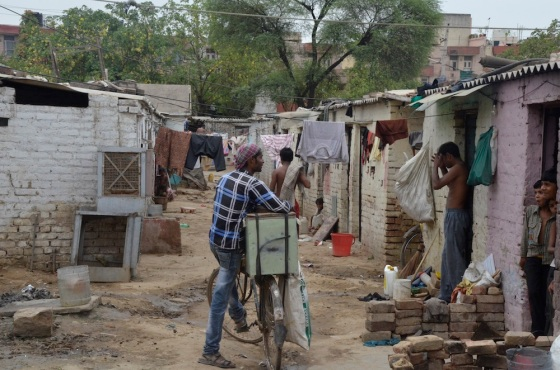 Jhuggis and other semi-permanent rentals often have bare minimum sanitation facilities and open defecation is not uncommon and very dangerous for women