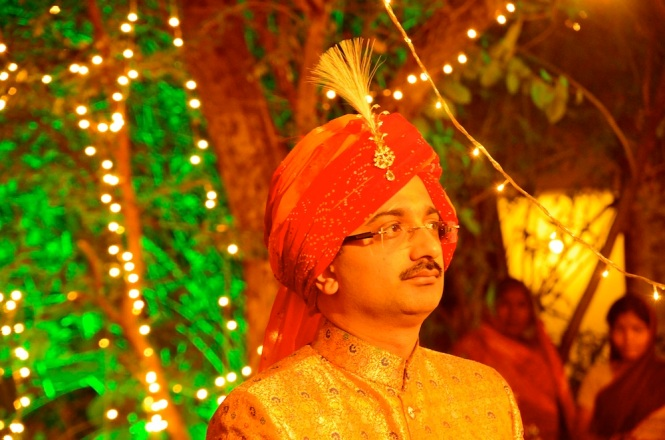 Nirbhay looks busy. The brother of the bride is one of the most important people in an Indian wedding :)
