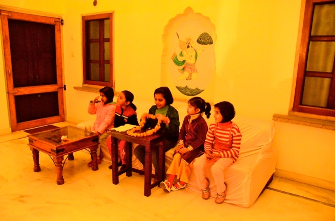 The kids played 'India's Got Talent' in the front porch of Dera Mandawa. Was tickled by their choice of game!