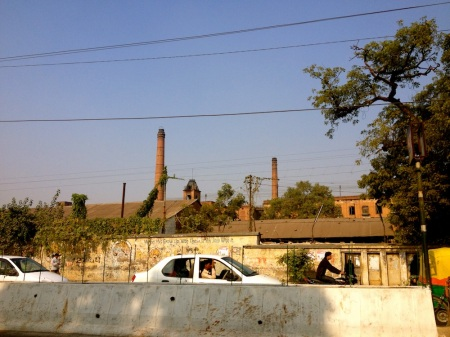 The sprawling compound of the lal imli textile mills, now defunct...