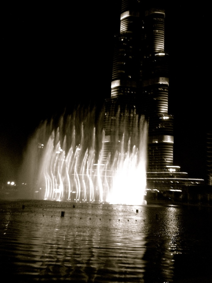 The dancing fountains outside are infamous. Every half-hour, they dance to a different tune, ranging from Western classic to Arabic to pop, against the backdrop of the dazzling and slender Burj Khalifa. It's pretty spectacular.