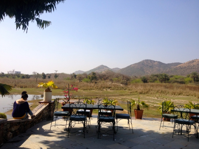 Originally the hunting lodge of the royal family of Mewar, Shikar Badi is built around a natural watering hole. It now houses the hotel, a stud farm, cricket grounds and a small private airport! Check out the view...