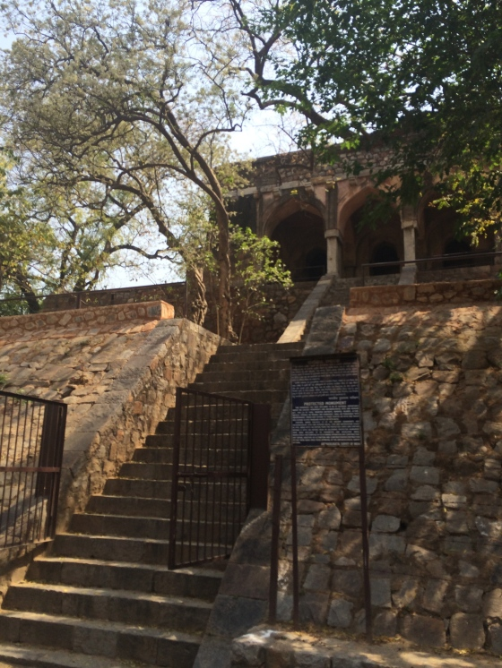 Kushak Mahal, Tughlaq's hunting lodge is inside the Teen Murti campus, just opposite the Planetarium building