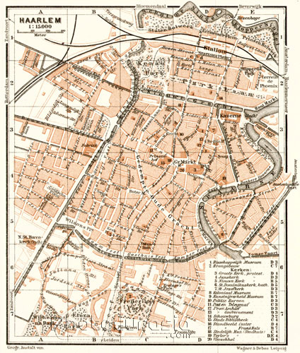 Late 18th century city map of Haarlem from Wikipedia