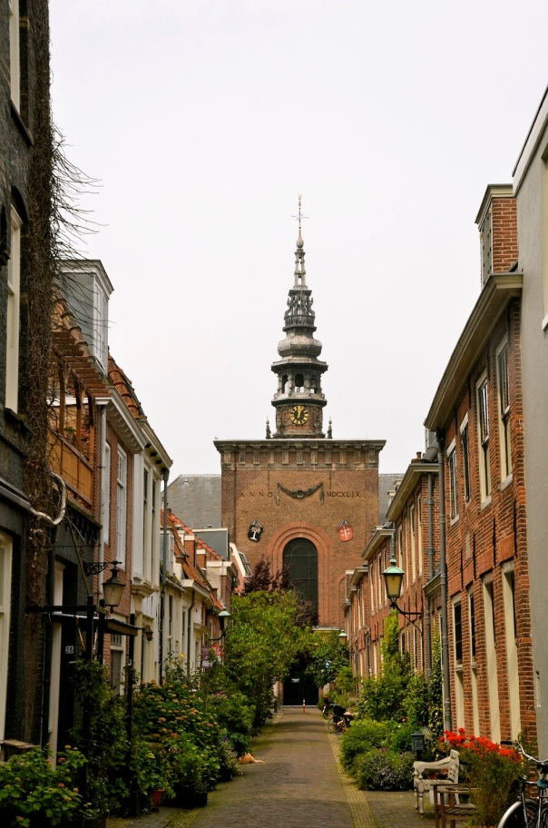 Wandering the quiet residential streets in Haarlem, where a surprise is right round the corner
