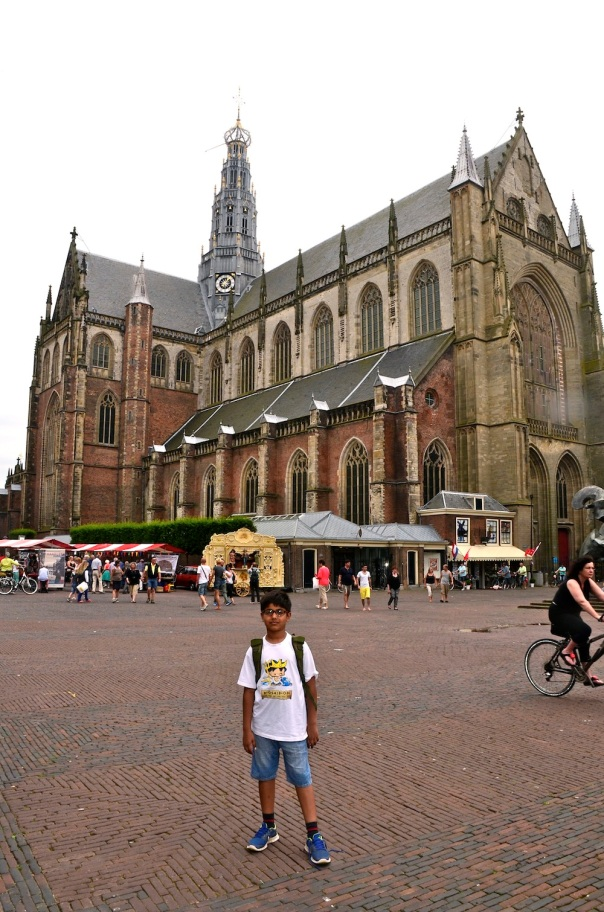 St Bavo from outside. At this time, we were out in the square lamenting its closure