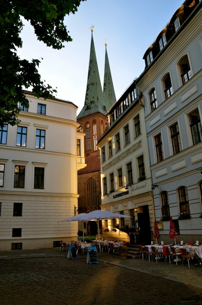 The Nikolaikirch too is hard to miss as you walk in this area