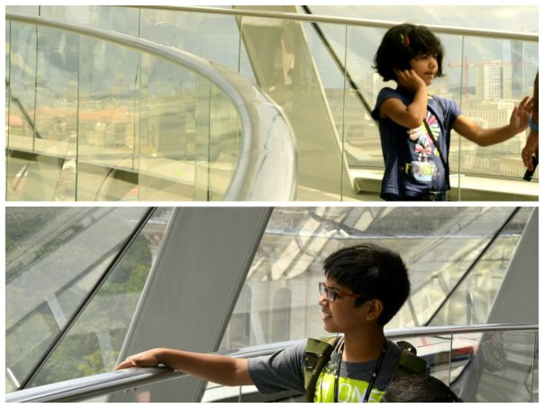 The effect of the glass dome on the kids was interesting. They were enchanted and engrossed in the audio guide, which was simple and easy to follow, with interesting tidbits but not too much chatter!