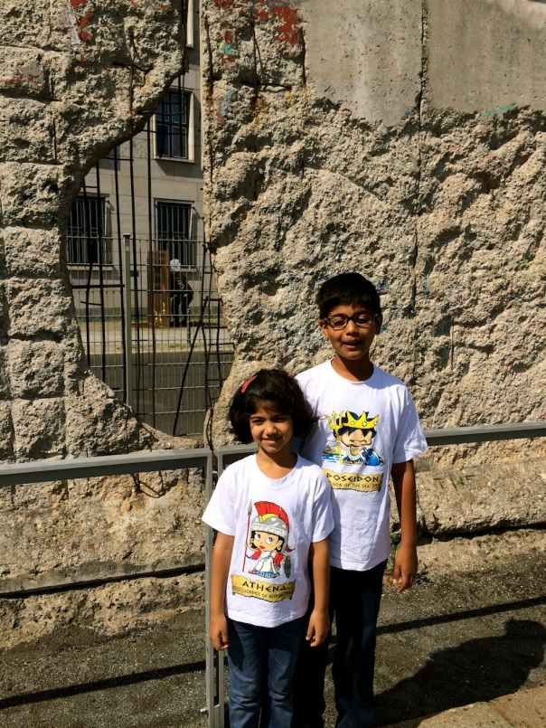 And this is my favourite shot of my two darlings posing in their Greek tees, my Poseidon and Athena, always inspiring me to do more and better, my constant admirers and critics. Love you kiddos!