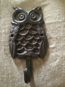 metal owl from flea market