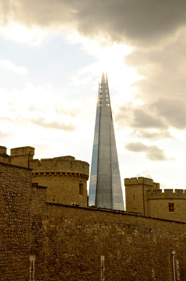 Caught the Shard between the turrets! It's Renzo Piano's latest addition to London's skyline