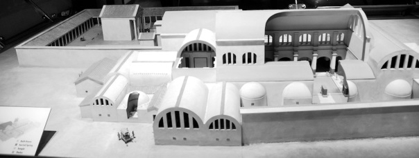 The model showing the Roman temple complex