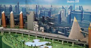 Visualization of smart city Dholera in Gujarat, which is on the Delhi Mumbai Industrial Corridor