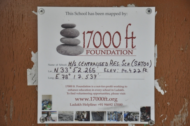 The 17000 ft Mapping Board - You will see one in every school of Ladakh. At 14,442 ft, this is one of the highest schools that we work in