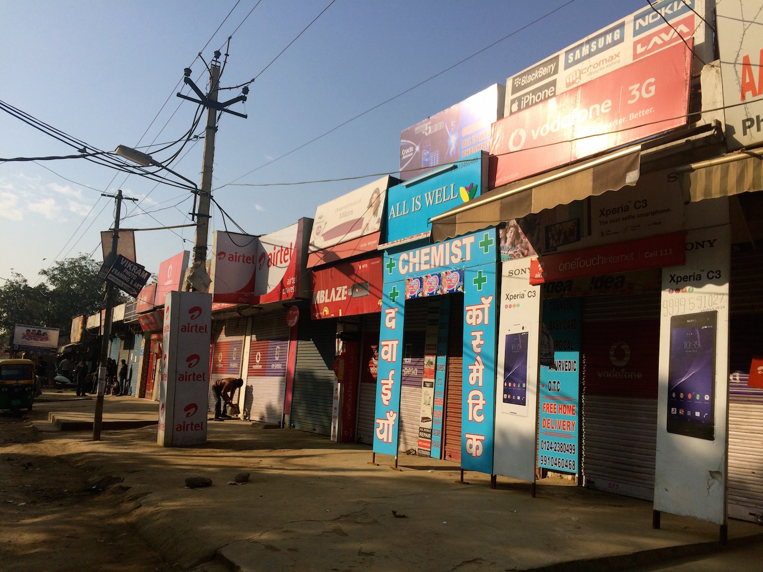 Shutters down, but so colourful in Village Silokhra