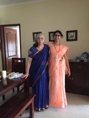Starting the #100SareePact on the auspicious New Year. Just got Vishu blessings from my beautiful grandmother who helped me wear my first saree when I was 16. And this saree is a gift from Mausi who is responsible for half my cotton saree collection. It sat in a trunk for nearly a decade and is now finally out! The classic Lucknow Chikan creation, as simple and elegant as Mausi always is!