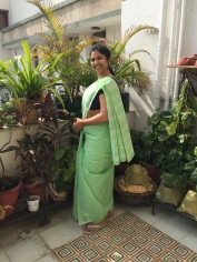 Day 3 of the #100sareepact picking out a Bengal cotton that used to belong to Rahul Singh Rawal's grandmother (Nani). It came to me via Radha Rawal (my mother-in-law, her daughter) as a blessing when she passed on a few years ago. Surely a coveted part of my saree collection. Remembering gracious and beautiful Nani today
