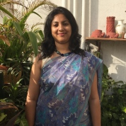 Day 6 ‪#‎100sareepact‬ This summery delight, the first chiffon saree I've owned, was bought for me by mum Sita Naik a year or two after my wedding. I remember the outing to Aminabad, Lucknow to buy it. I remember falling in love with the colours quite instantly. It's a versatile saree, which has been worn quite a bit and not just by me!