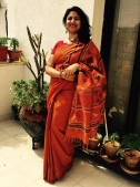 Day 13 This kancheevaram cotton that belongs to my mum made me feel extra good!