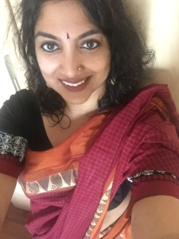 Day 56 #100sareepact Repeating this gorgeous maroon south cotton with a broad border today. The saree was a generous donation to my wardrobe by my grandmother. Amamma had received this as a gift but thought it would be very heavy to wear. I resolved this morning to wear it a few more times till it became soft and then perhaps offer it back to her. Will report back on her reaction!