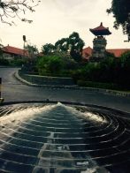 Entry landscape of resort in Seminyak