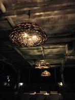 Light fixtures abound