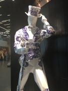 In transit at Schipol, Johnnie Walker in Delft blue pottery!